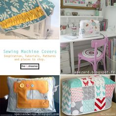 TheDIYDreamer.com - Sewing Machine Covers {Inspiration, Tutorials, Patterns, Shops}. Helpful guide tutorials, patterns and shops for sewing machine covers.