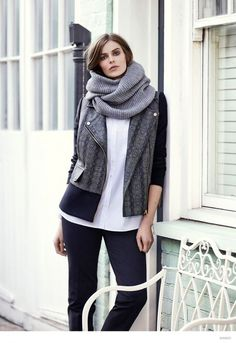 Style POP: Ultra soft knit scarf is must have for  the cool season.