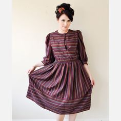 Fab.com | 70s Cotton Striped Dress