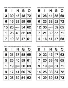 Delicate image with regard to free printable bingo cards with numbers