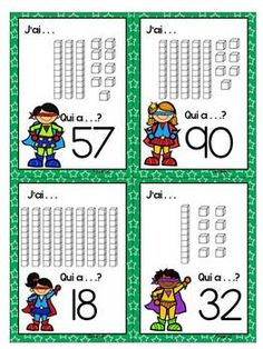 French Place Value Game using Base 10 blocks - J'ai. . . Q