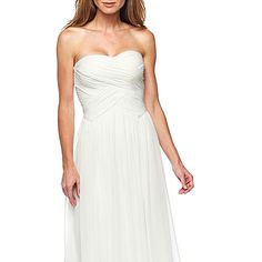 Liliana Shirred Strapless Bridal Gown - jcpenney