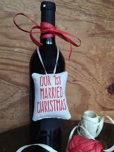First Married Christmas Ornament / Christmas gift by BEtimeless