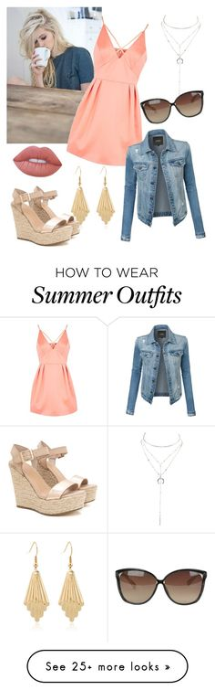 """Coffee Date"" by merylrs on Polyvore featuring Topshop, Charlotte Russe, Linda Farrow, LE3NO and Lime Crime"