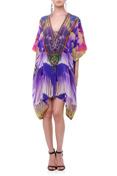 Beautiful Printed Luxury kaftan for sale Designer Caftan Women/'s Short Silk Kaftan Beach Cover up kaftan Embellished kaftan 108s