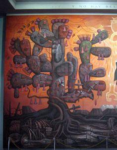 Pinacoteca de Concepcion. Cactus and copihue. Jorge Gonzalez Camarena.