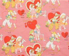 Valentine Children Retro Pink Alexander by lucyintheskyquilts