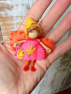 Sweet Little Waldorf Inspired Pixie Bendy Doll  by ACuriousTwirl