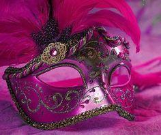 Fuscia Masquerade Mask