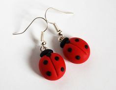 Orecchini Coccinelle  Ladybug Earrings by la Botteghilla