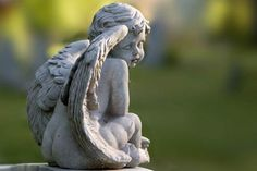 """Angels of Hollywood Cemetery, "" Cherub Sigh"", Photography by David Everette Cemetery Angels, Cemetery Statues, Cemetery Art, Angel Statues, Hollywood Cemetery, Angel Sculpture, I Believe In Angels, Ange Demon, Cherub"