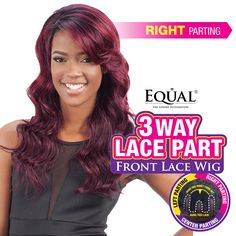 FREETRESS EQUAL SYNTHETIC LACE FRONT WIG 3 WAY LACE PART CHANTAE