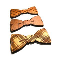 Wooden bowties
