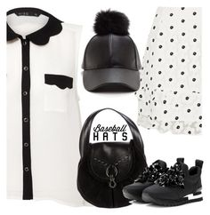"""""""Top Hat: Baseball Cap Style"""" by yours-styling-best-friend ❤ liked on Polyvore featuring Helene Berman, Miso, River Island, Giuseppe Zanotti and Tory Burch"""