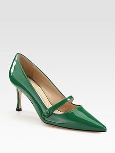 Gorgeous green patent --another Blahnik patent mary jane