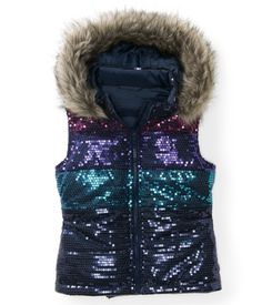 For Logan -Kids' Sequin Puffer Vest