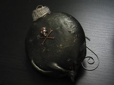 Creepy Christmas Holiday Ornament Jolly Roger by MadameMacabreShop, $25.00