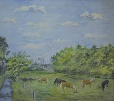 Dyrehaven, Eremitagesletten og Strandvejen lå lidt længere fra hjemmet, men var i mange år mål for Anker Legaards søndagsudflugter med lærred og staffeli. Painting, Anchor, Painting Art, Paintings, Painted Canvas, Drawings