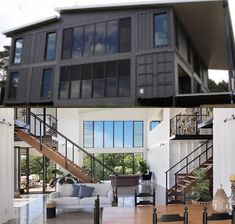 Would you add this to your garage? Shipping Container Buildings, Shipping Container Home Designs, Container House Design, Tiny House Design, Modern House Design, Shipping Containers, Building A Container Home, Storage Container Homes, Container Architecture