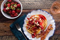 Find the recipe for Buttermilk Pancakes with Roasted Strawberries and other strawberry recipes at Epicurious.com
