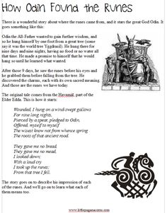 rune unit study for Pagan kids