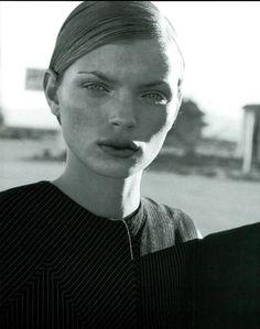 Esther Cañadas Vogue Italia Feb 1998 by Peter Lindbergh