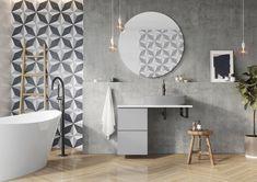 Meble łazienkowe/ bathroom furniture Look Collection Bathtub, Mirror, Bathroom, Furniture, Design, Home Decor, Standing Bath, Washroom, Bath Tub
