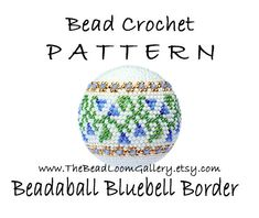 Crochet Seed Beadaball Pattern - PDF File  Fancy Beadaball - a beaded crochet ball pattern with Swarovski crystals exclusively by TheBeadLoomGallery. Fill it with a Ping-Pong ball, a sound meditation ball, or anything you want! Make it into a pincushion, Christmas ornament, or fill it with lavender to make a scented Beadaball. You can even leave a secret note or treasure inside. Be creative and enjoy it! The model came out 1 3/4 inches in diameter and has a Ping-Pong ball inside.  Sold i...
