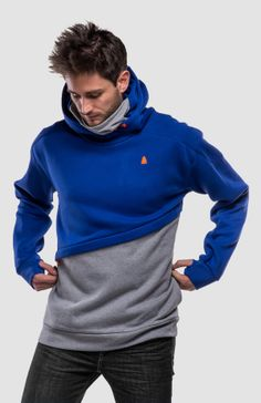The winter ninja strikes back again with longer length for maximum free style points!The HiRise hoodie was made out of fluffy cotton for the frost. Concrete, Men Sweater, Hoodies, Casual, Sleeves, Cotton, Blue, Collection, Style