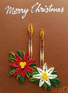 Meet the mother and daughter team, you wouldn't essentially call mad. However, they do have a method to their madness, as they work meticulously on their art with expertise that requires both… Paper Quilling, Paper Art, Origami, Mad, Merry Christmas, Projects To Try, Crafts, Fiber, Christmas Paintings