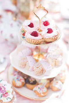 Joint Royal Princess High Tea Garden Birthday Party // Hostess with the Mostess® - tea party desserts tray - Royal Tea Parties, Fairy Tea Parties, Royal Party, Girls Tea Party, High Tea Parties, Fairy Tea Party Food, Fairy Food, Summer Parties, Garden Birthday