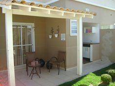 The Palms Houses - Casas em Uberlândia Modern Backyard, Small House Design, Simple House, Laundry Room, My House, Small Spaces, Sweet Home, House Styles, Outdoor Decor
