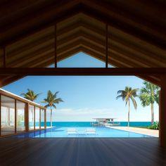 Beach House - Shigeru Ban Dellis Cay
