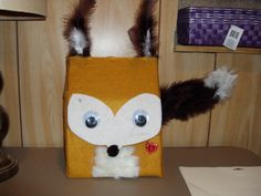 What does the fox say....Valentine box for boys.