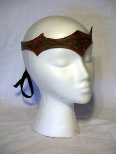 Leather Circlet with Celtic like pattern inlay.
