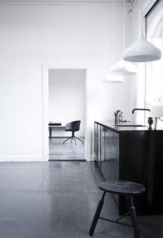 Minimalistic black kitchens | Image by Norm Architects via Bo Bedre