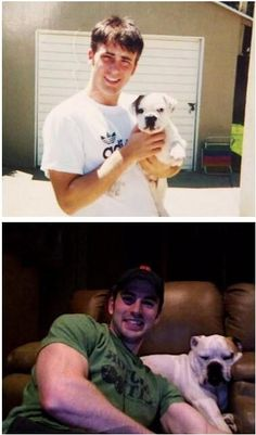 Chris Evans and his dog, aww~