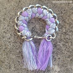 Saben BFF Bracelet Bff Bracelets, Grey Ombre, My Nails, Nail Polish, Jewels, My Love, Purple, Friendship Bracelets, Gray Hair Highlights