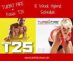 ... Workout Schedule Calendar Week 1 Monday – Turbo 30 Tuesday – Speed