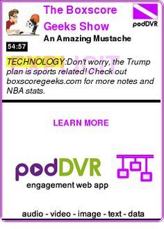 #TECHNOLOGY #PODCAST  The Boxscore Geeks Show    An Amazing Mustache    READ:  https://podDVR.COM/?c=df910fc5-2f3f-7a18-6b49-6cb1f3f0e195