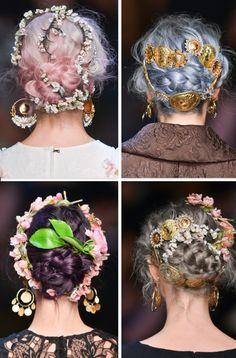 Dolce & Gabbana SS 14 *hair*