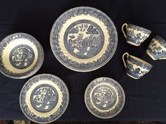 Myott Old Willow Blue Willow Staffordshire England Tableware