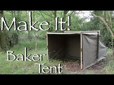 In this video, I begin a long awaited home build project - to make a canvas Baker campfire tent. Used since the mid by the early fur traders and voyage. Bushcraft Camping, Backpacking Gear, Tent Camping, Camping Hacks, Outdoor Camping, Camping Ideas, Camping Stuff, Canvas Tent Diy, Airstream Rv