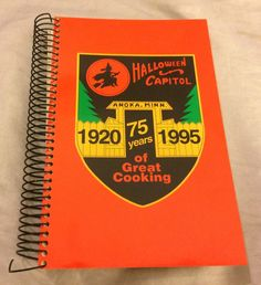 Anoka Minnesota 75 Years Of Great Cooking 1920-1995 Cook Book Halloween Capitol | Books, Cookbooks | eBay!