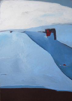 "Saatchi Online Artist: Andreas Bahn; Acrylic Painting ""Wieder Winter"""