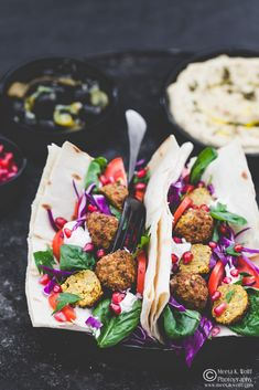 What's For Lunch Honey?: Cauliflower Chickpea Falafel & Hummus Lavash