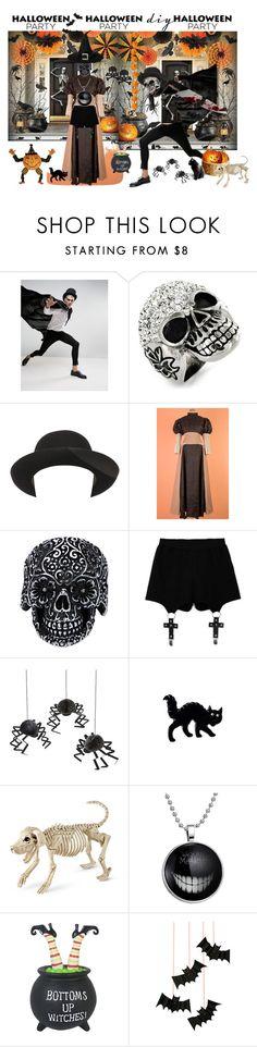 """Happy Halloween"" by kapua-blume ❤ liked on Polyvore featuring ASOS, West Coast Jewelry, Super Duper, Chicnova Fashion, Meri Meri, Improvements, halloweencostume and DIYHalloween"