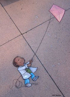 David Zinn - Kite Boy