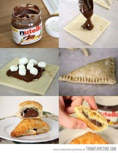 Nutella Marshmallow Turnover (not a Nutella fan, but could be done with chocolate filling or peanut butter)