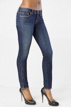 """J Brand 10"""" Lowrise Skinny Jeans - 9610 in Dark Vintage $180 at www.tobi.com"""